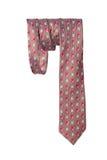 Men's necktie on a white background. One silk men's necktie on a white background Royalty Free Stock Photos