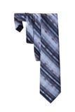 Men's necktie on a white background. One silk men's necktie on a white background Royalty Free Stock Photography