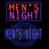 Men's night glowing neon Royalty Free Stock Photography