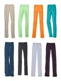 Men's office and casual pants Stock Images
