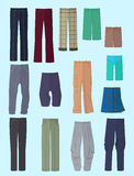 Men's pants in flat design Royalty Free Stock Photo