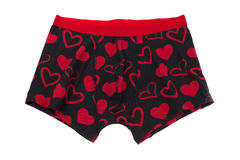 Men`s pants with a pattern of heart Stock Photo