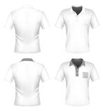 Men's polo shirt design template with pocket Stock Photos
