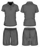 Men's polo-shirt and sport shorts Stock Photography
