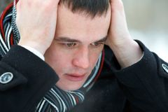 Men's problems Royalty Free Stock Photography