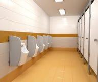 Men`s public toilet. 3D illustration of men`s public toilet Stock Photography
