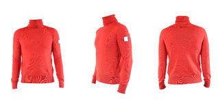Men's red turtleneck Isolated on white Stock Photo
