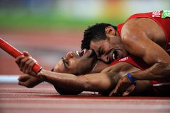 MEN'S RELAY IN PARALYMPIC GAMES 2008, BEIJING Royalty Free Stock Image