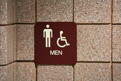 Men's Restroom Sign Stock Images