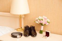 Men's set for the wedding. Wedding day, mens set wedding Stock Images
