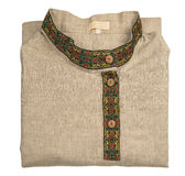 Men's shirt, linen in Russian folk style. Royalty Free Stock Image
