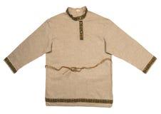 Men's shirt, linen in Russian folk style. Stock Images