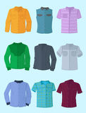 Men's shirts in flat design Royalty Free Stock Images