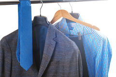 Men's shirts on hangers Royalty Free Stock Photo