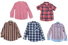 Men's shirts isolated on white background Stock Images