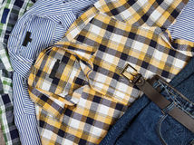 Men's shirts and jeans Stock Photo