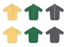 Men's shirts, short sleeve Royalty Free Stock Photo
