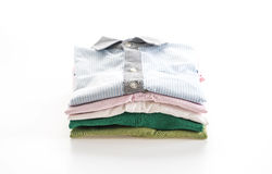 Men's shirts stacked Royalty Free Stock Images