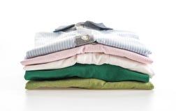 Men's shirts stacked Stock Photos