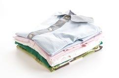 Men's shirts stacked Royalty Free Stock Photo