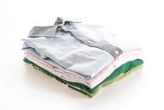 Men's shirts stacked Royalty Free Stock Photos