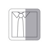 men's shirts with tie icon Royalty Free Stock Images