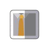 men's shirts with tie icon Stock Images