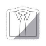 men's shirts with tie icon Royalty Free Stock Photos