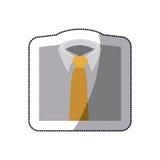 men's shirts with tie icon Stock Photos