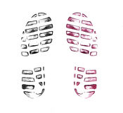 Men`s shoe prints on white Royalty Free Stock Photography