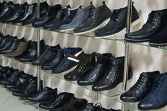 Men's shoe shop Royalty Free Stock Images