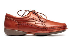 Men's shoe, side view Royalty Free Stock Photos