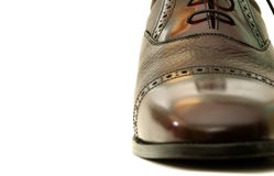 Men's Shoes. Leather Brogue, hand-made Stock Photo