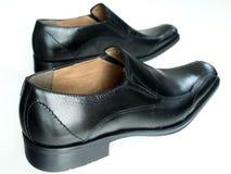 Men's Shoes. Men's black italian dress shoes Royalty Free Stock Photography