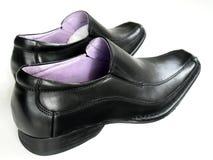 Men's Shoes. Men's black italian dress shoes Stock Photography