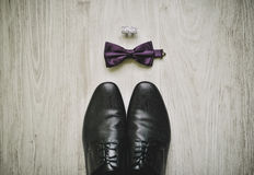 Men's shoes and accessories Royalty Free Stock Image
