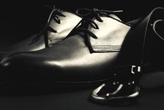 Men`s shoes and belt. Stylish men`s shoes and belt Stock Photo