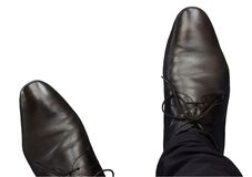 Men`s Shoes stock photography