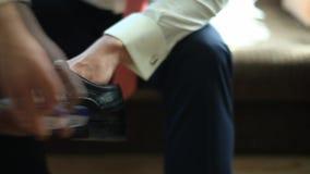 Men`s shoes stock video