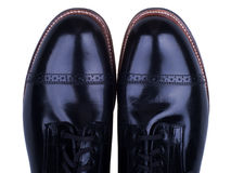 Men's Shoes. Classic black shoes isolated on white Royalty Free Stock Image