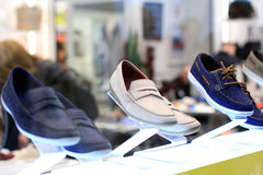 Men`s shoes display stock image
