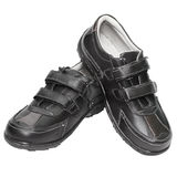 Men's shoes are made of artificial leather Royalty Free Stock Photos