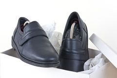 Men's shoes unpack Stock Photography