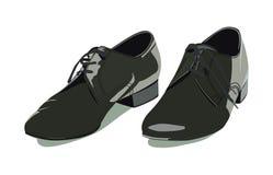 Men's shoes. Vector black classic men's shoes Stock Photo