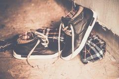 Men's shoes, vintage treatment Royalty Free Stock Images