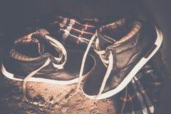 Men's shoes, vintage treatment Stock Photos