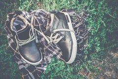 Men's shoes, vintage treatment Stock Images