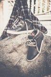 Men's shoes, vintage treatment Royalty Free Stock Image