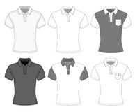 Men's short sleeve polo shirt Stock Image