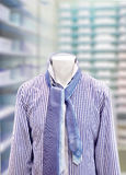 Men's short with tie. In shop Royalty Free Stock Image